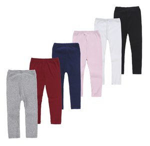 Children's Pants Spring and Autumn New Girl's Candy Color Knitting Elastic Pants Solid Color Soft Versatile Leggings
