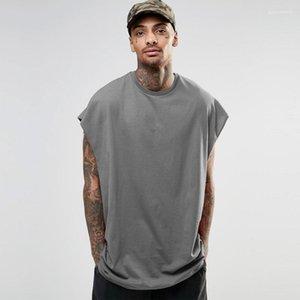 Camisetas casual manga del palo del verano Tops camisas para hombre Hiphop Calle floja T para hombre sin mangas diseñador