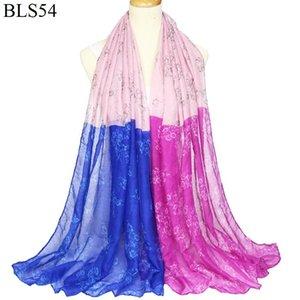 2019 Balinese Baumwolle und Hanf-Schal Frau Schal warm halten Windschutz Rechtschreibung Farbe Kollision Schal
