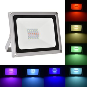 RGB LED floodlight with 4 modes of dimmable stage lighting and color-changing outdoor spotlight with remote control