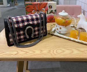 Designer Luxus-Handtasche gute Qualität Großes Beuteltasche des Segeltuchmaterial Muster Designer-Handtaschen Damenmode Kettenbügel Schultertaschen