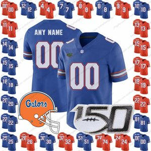 Encargo de la Florida Gators Fútbol Jersey 150º cualquier nombre número 15 Tim Tebow 12 Jefferson Van 27 Dameon Pierce 22 Chris Steele S-3XL