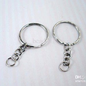 Hot sell ! 300pcs  lots Antique Silver Alloy Band Chain key Ring DIY Accessories Material Accessories