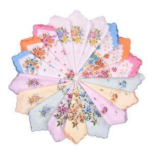 Womens coloré dames Mouchoirs 100% coton Mouchoir Wendding Hanky