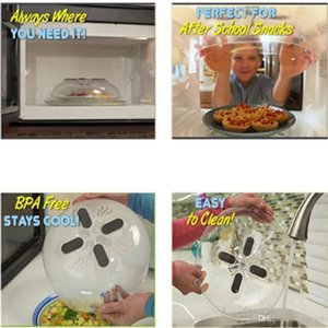 30*8.5cm Microwave Splatter Lid Food Splatter Guard Cover Microwave Hover Anti-Sputtering Cover With Steam Vents Opp Package