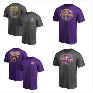 NCAA LSU Tigers Fanatics Branded College Football Playoff 2019 fan Campioni Nazionali Schedule Fumble T-Shirt supera i T manica corta Prined