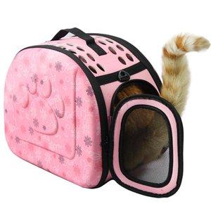 Küçük Taşınabilir Taşıma Kedi Taşıyıcı Çanta Seyahat Çantaları Yavru Yok Köpek Pet Rahat Hayvanlar için TRHDP