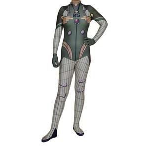 Muchacha de las mujeres de Cosplay del traje de Halloween Evangelion Plug Suit Lycar Spandex EVA de alta calidad de Zentai Catsuit mono atractivo del mono