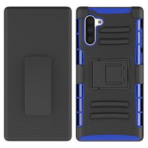 Samsung Galaxy Note 10 10 pro Klip Vaka Kickstand Serin Combo Kılıf Kemer Klip Koruyucu Telefon Kapak Oppbag için telefon kılıfı