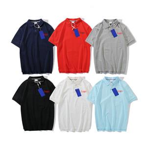 Mens Polo Shirts 2019 Nouvelle Arrivée Mens Marque Polos Mode Été Casual Couleur Unie Polo Shirts Taille M-2XL