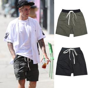 Il timore di Dio FOG Essentials tasca del carico pantaloncini neri Olive Green Cargo Shorts coulisse cavallo basso Shorts Hip Hop Streetwear Estate