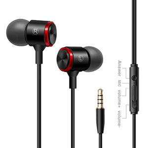 E3 métal Stéréo Basse 3.5 mm filaire écouteur Avec Microphone in-ear casque Pour Téléphone Ordinateur iPhone Huawei Xiaomi Gaming headset