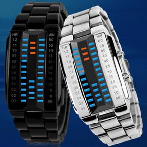 Montres Mode Sport Jeunesse Waterproof Deuxième génération électronique binaire LED numérique unisexe New Montre en alliage poignet bracelet