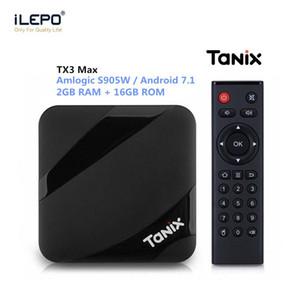 Макс TV коробка TX3 Tanix Андроид 7.1 ОЗУ 2 ГБ ПЗУ 16 ГБ S905W смарт-телевизор коробка 1080p 4K ультра смарт ТВ потокового коробки
