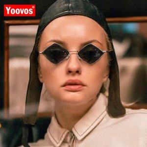 Yoovos Kleine Rahmen-Sonnenbrille-Frauen 2019 Prismatic Retro Quadrat-Sonnenbrille-Frauen Marken-Plastik Feminino