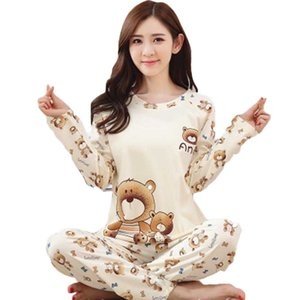 Pajama Women's Cotton Long Sleeve Sweet And Lovely Spring And Autumn Korean Version Of Home Clothing Pijama Feminino Inverno