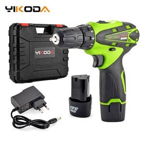 YIKODA 12V Electric Screwdriver Lithium Battery Rechargeable Parafusadeira Furadeira Multi-function Cordless Drill Power Tools T200602