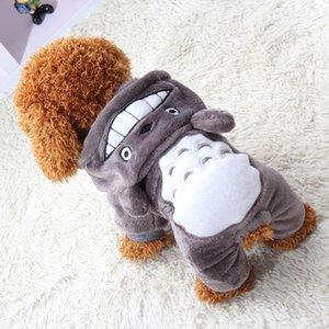 Doux et chaud en molleton Pet vêtements Cat Cartoon Jumpsuit Puppy Dog Costumes Vêtements Automne Hiver pour les petits chiens Chihuahua Yorkie Tenues