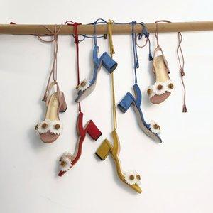 Fancy2019 Xialuzhi Fairy Rome Bandage scarpa fiore grezzo alta con sandali Donna