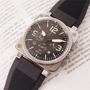 Exército marca de relógios suíços para os homens de aço inoxidável de borracha caso cinta homens br relógio de quartzo movimento de cronógrafo assistir todos os relógios de trabalho de marcação