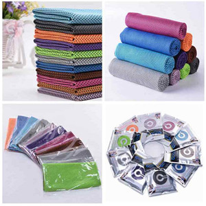 10 cores Ice Cold toalha 30 * 80 centímetros camadas duplas instante mágico de refrigeração Toalhas Verão Insolação Sports Academia Quick Dry Toalhas ZZA2319 120pcs