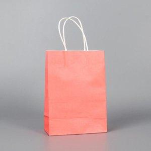 40Pcs lot Kraft Paper Bag Foldable Bag large Gift Packaging Clothing Shopping Small Gift Bags