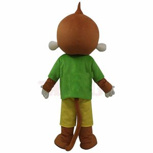 Toptan-sıcak satış Green Monkey Maskot Kostüm kıyafet Ücretsiz Kargo