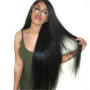Wigirl 250 Densité droite 360 Lace Frontal perruque pré plumé avec bébé cheveux 13x6 avant de dentelle perruques de cheveux humains pour la femme noire