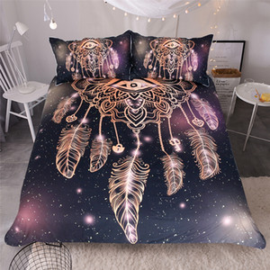 3d black Dreamcatcher eye Duvet Cover set Mandala Bedding Set king Pillowcase Bedspreads Quilt Cover