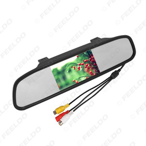 """wholesale 4.3"""" TFT LCD Digital Car Rearview Monitor With Mirror For Reversing Backup Camera DVD VCD Video 12V 24V#4619"""