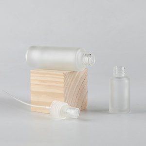 20ml Frosted Glass Cosmetic Bottle With Sprayer Or Lotion Pump Perfume Refillable Bottle Fast Shipping F3685