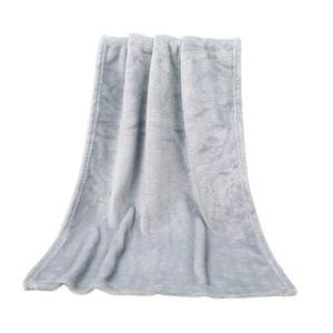 95x160cm weiche warme Coral Fleece Blanket Winter-Blatt Bedspread Sofa Plaid werfen Licht Thin Mechanische Wash Flanell Decken