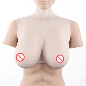 Forma médica completa de calidad superior Crossdresser CD Silicone Breast Form Sexy escote Tits Enhancer Fake Breast Artificial Boobs