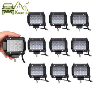 XuanBa Atacado 4D Lens 4 Inch Offroad Led Light Pods para Car Truck Tratores Motocicleta Barco ATV SUV ponto do feixe Work Lamp Spotlight 10pcs