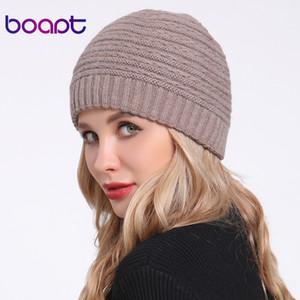 [Boapt] Angora Soft-Double-Layer-Strick Thick Bonnet Mädchen-Winter-Hüte für Damen Caps Lady Skullies Beanies weiblich Hut