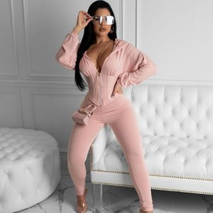 Two Piece Women's Sets 2020 Tracksuit Women Festival Clothing Fall Winter Top+Pant Suits 2 Piece Club Outfits Matching Sets T200519