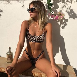 2020 Sexy Leopard Bikinis Micro Bikini Set Push Up Thong High Cut Swimwear Women Mini Swimsuit Female Bathing Suit