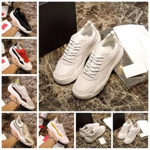 2020 Designer Chaussures Hommes Casual Luxe avec boîte originale Gumboy Calfskin Sneaker épais Sole Italie Mode Cuir Chaussures Hommes grande taille Sport