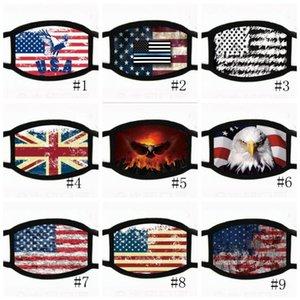 18styles Trump visage Masque Coton Trump Masques 2020 Tissu anti-poussière Masque Homme Femme Mode unisexe hiver chaud Masques drapeau noir US GGA3546-2
