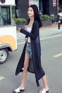Paneled Sun Protective Roupas Designer Sólido Mulheres Verão Guarda Moda Donna Casacos Chiffon com modal