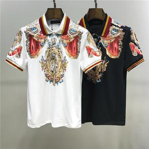 블랙 화이트 남성 T 셔츠면 남성 여성 T 셔츠 편지 인쇄 티는 여름 패션 캐주얼 폴로 T 셔츠 1 탑스