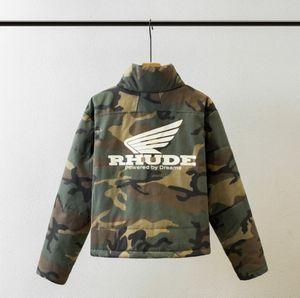 Rhude Vestes Hommes Femmes Brochage Streetwear Bomber Jacket Camouflage manteau coupe-vent Rhude Army Men Jacket