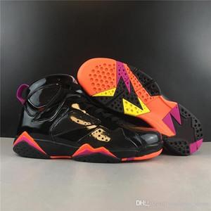 Jumpman 7 7s Fashion Basketballschuhe 23 Black Peach Blossom Outdoor-Trainer Sport-Turnschuhe für Männer Schuhe Qualitäts-Turnschuhe US7-12