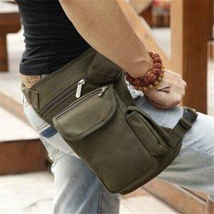 NEW cross-border hot sale multi-function outdoor cotton sports leg bag canvas waist bag money belt waist bag camouflage