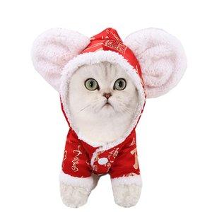 NUEVA LLEGADA para mascotas perro gato Año nuevo ratón Cos-play calientes espesan ropa de vestir ropa de perro de mascota Accesorios Cat # 0207G0.3