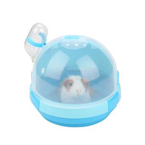Taşınabilir Pet Taşıyıcı Hamster Taşıma çantası Açık Plastik Sevimli Şekil Kafes Su Şişesi ile Seyahat Açık Hamster Küçük Hayvanlar için