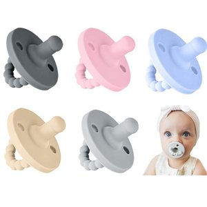 Soft Baby Nipple Grade Silicone Teether Infant Dummy Soother Pacifier Teething Toy Nursing Accessories newborn Care ProductYIWO#