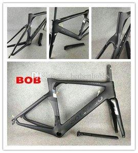 أسود الكربون Colnago لBOB الطريق الدراجة الإطار دراجة إطار كامل من ألياف الكربون مع BB386 الإطار LOGO لامع