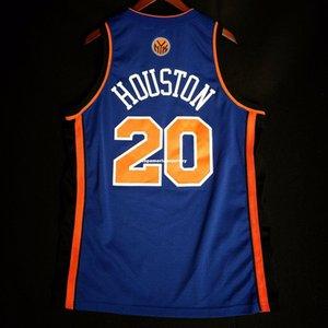 100% Stitched Allan Sewn 20# Away Jersey Mens Blue Vest Size XS-6XL Stitched basketball Jerseys Ncaa