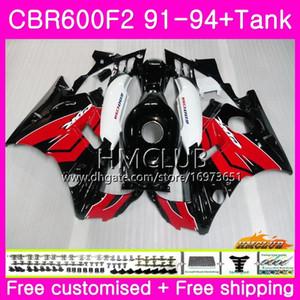 Bodys para HONDA CBR 600F2 CBR 600 F2 FS 91 92 93 94 76HM.3 Buena Negro Rojo CBR600 F2 CBR600FS CBR600RR carenado CBR600F2 1991 1992 1993 1994